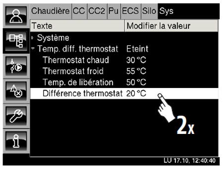 Différence thermostat