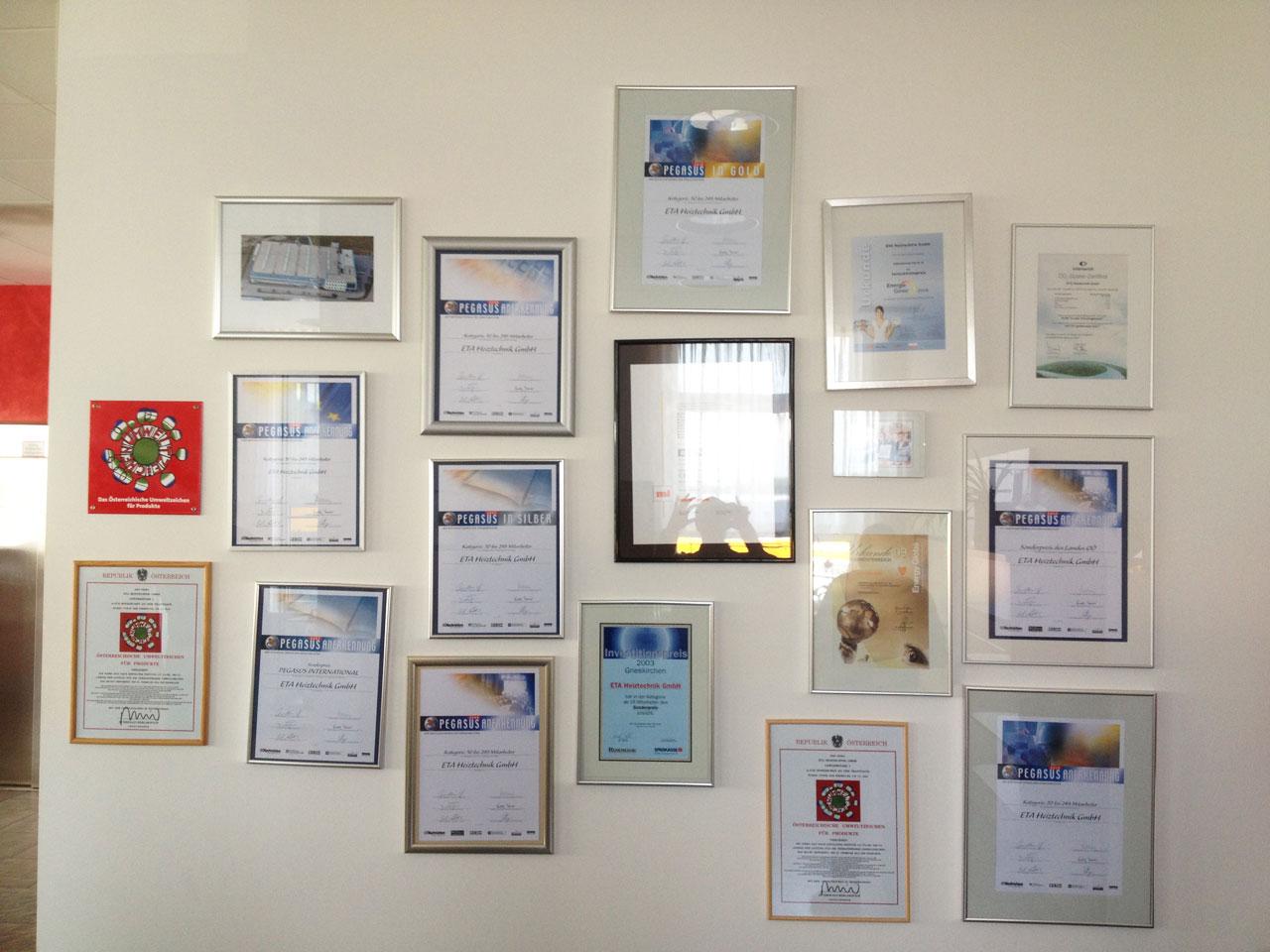 Prix et concours obtenus par l'usine ETA
