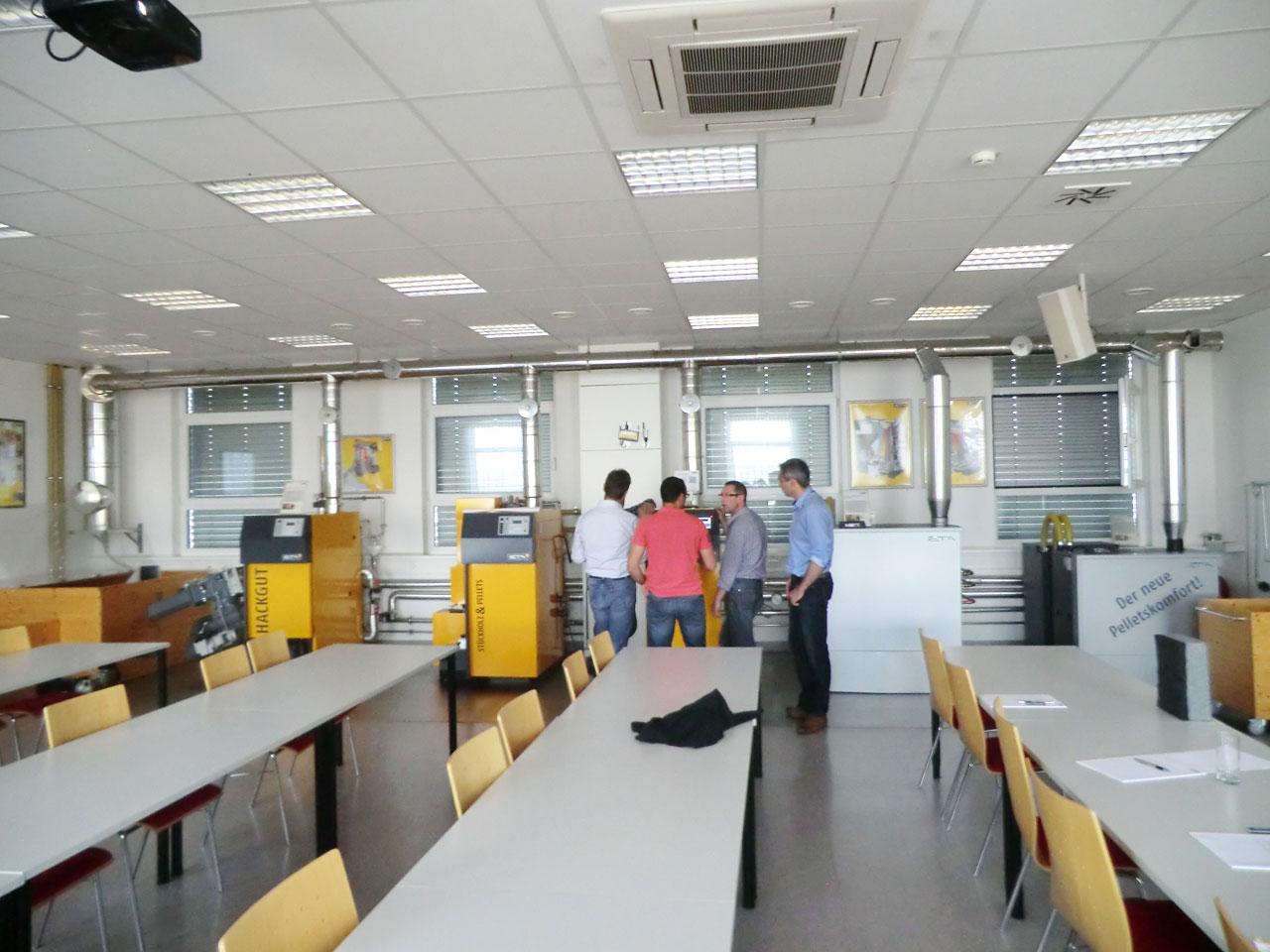 Centre de formation ETA, toute la gamme en fonctionnement