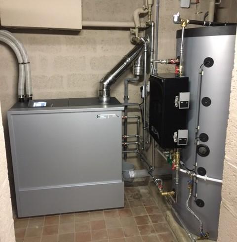 Installation chaudière ETA Pellets Unit 15 Kw à Temploux