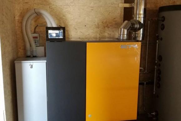 Installation chaudière pellets compact 20kW à Péruwelz