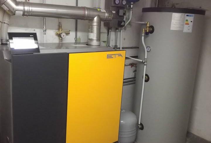 Installation chaudière pellets ETA compact 20kW à Halema
