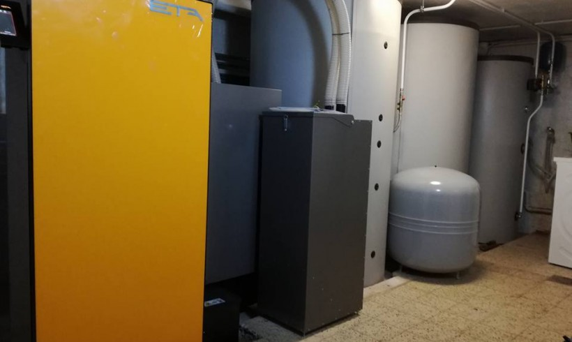 Installation chaudière pellets ETA TWIN à Diest