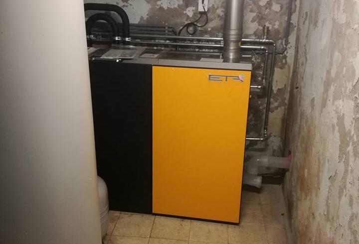 Installation chaudière ETA pellets Unit 15kW à Jumet