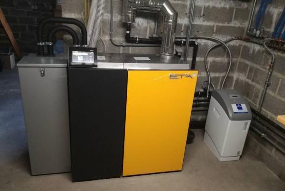 Installation chaudière pellets unit 15kW à Marchovelette